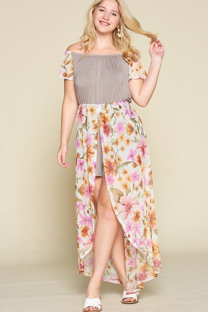 Photo of Serenity Plus Size Solid Jersey Maxi Romper