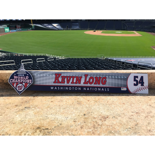 Photo of Kevin Long Game-Used 2020 Locker Tag
