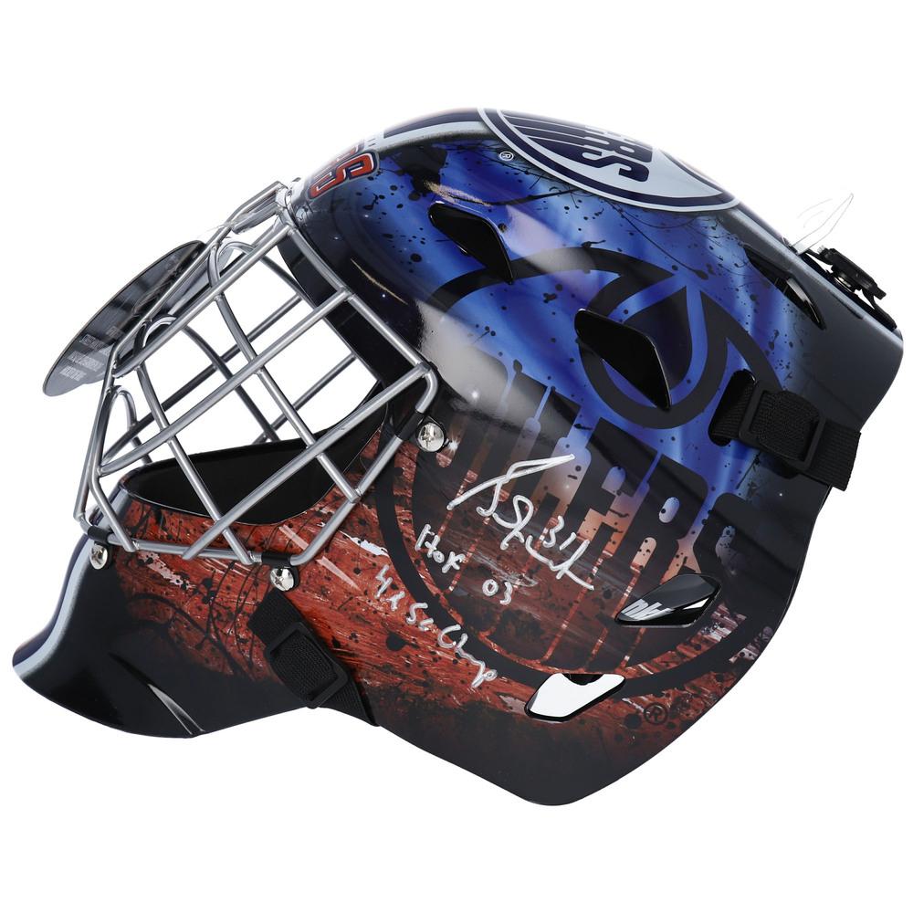 Grant Fuhr Edmonton Oilers Autographed Replica Goalie Mask with Multiple Inscriptions - NHL Auctions Exclusive
