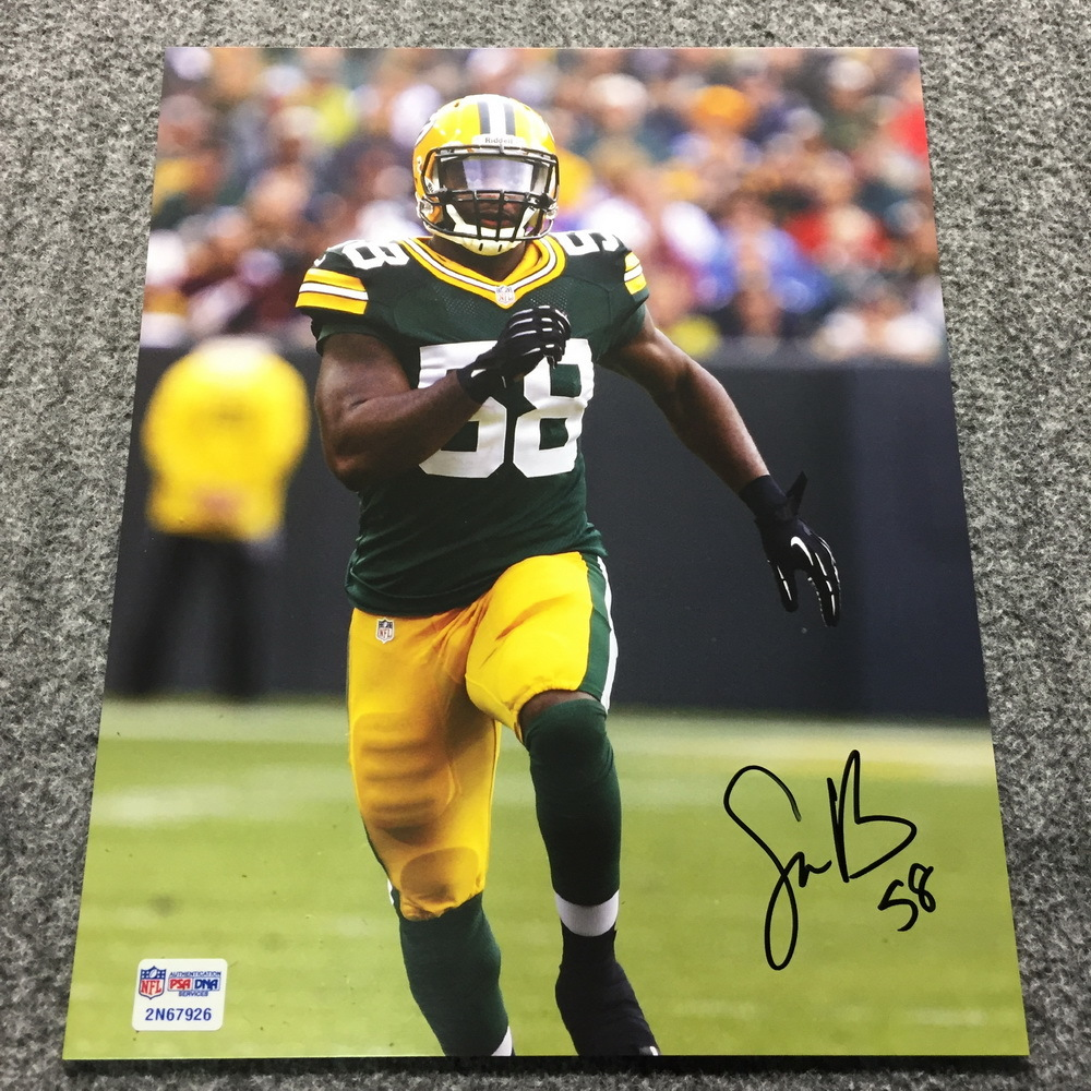 PCF - Packers Sam Barrington Signed Photo
