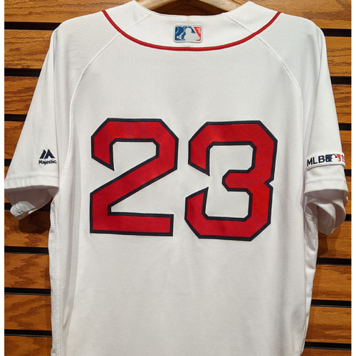 Photo of Michael Chavis #23 Game Used Home White Jersey