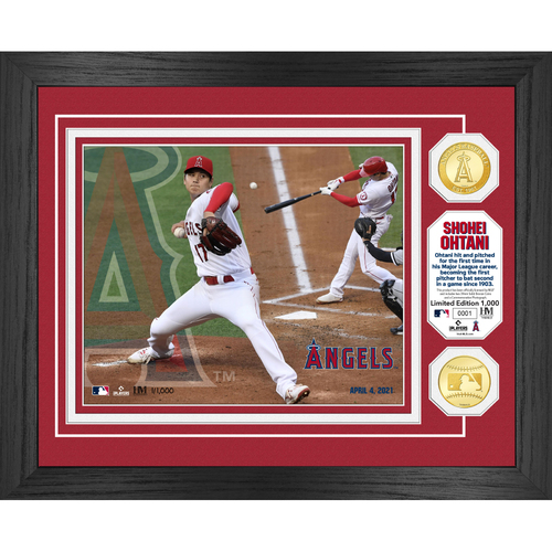 Photo of Los Angeles Angels Shohei Ohtani Double Trouble Bronze Coin Photo Mint