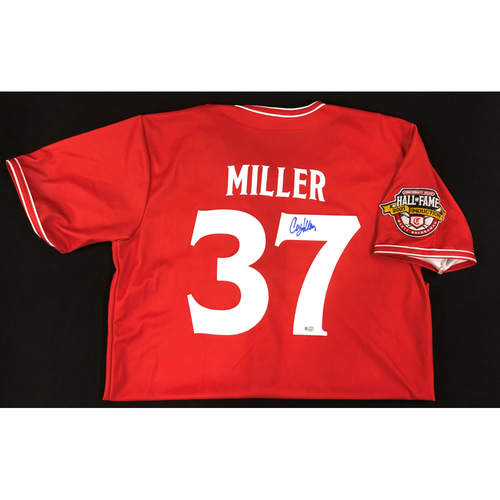 Photo of Corky Miller - AUTOGRAPHED Game Used Jersey: Reds Hall of Fame Legends Game