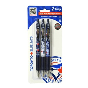 Toronto Blue Jays 3 Pack Z Grip Ball Point Pen by Zebra