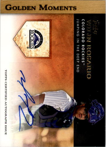 Photo of 2012 Topps Golden Moments Autographs #WR Wilin Rosario S2