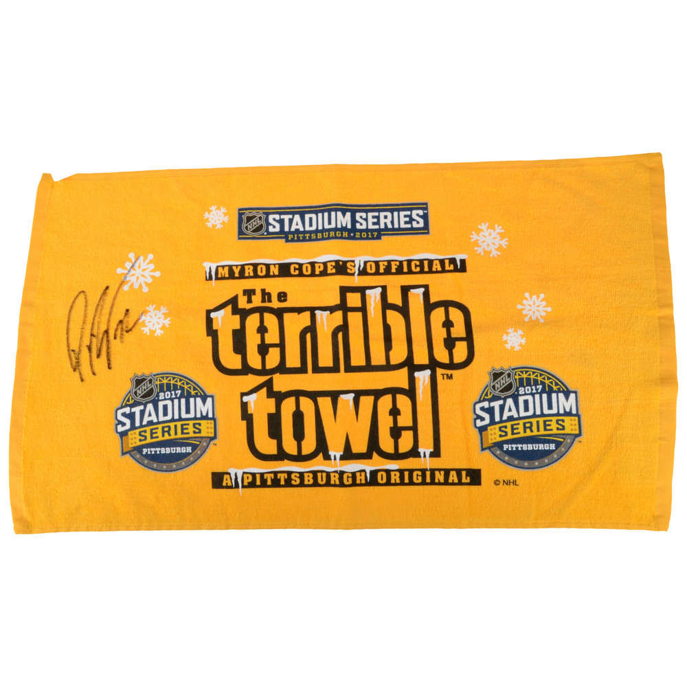 Patric Hornqvist Pittsburgh Penguins Autographed Pittsburgh Steelers Terrible Towel