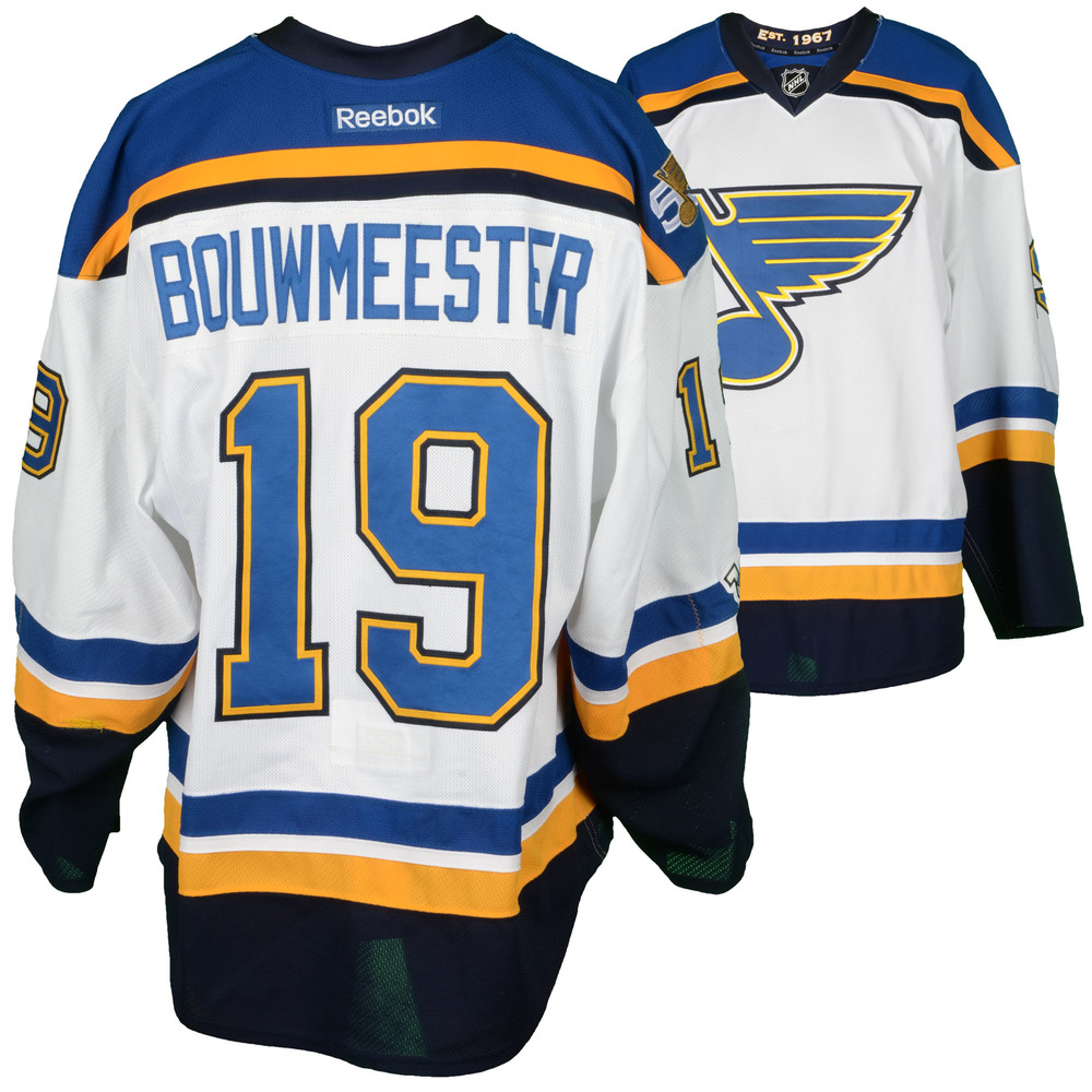 Jay Bouwmeester St. Louis Blues Game-Used 2016-17 Set 2 Away Jersey Worn Between December 8, 2016 and January 26, 2017