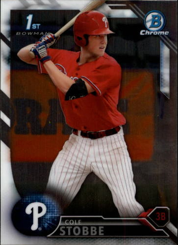 Photo of 2016 Bowman Chrome Draft #BDC62 Cole Stobbe