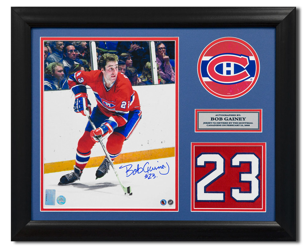 on sale ccd6b 07101 Bob Gainey Montreal Canadiens Signed Retired Jersey Number ...