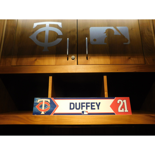 Photo of 2018 Zach Duffey Game-Used Locker Name Plate