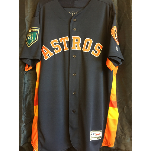 Photo of A.J. Hinch 2018 Team-Issued Spring Training Jersey