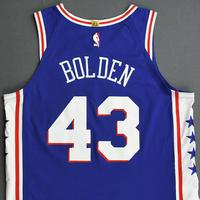 Jonah Bolden - Philadelphia 76ers - 2019 NBA Playoffs - Game-Issued Blue Icon Edition Jersey