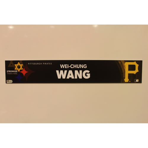 Photo of 2019 Game Used Locker Nameplate - Wei-Chung Wang