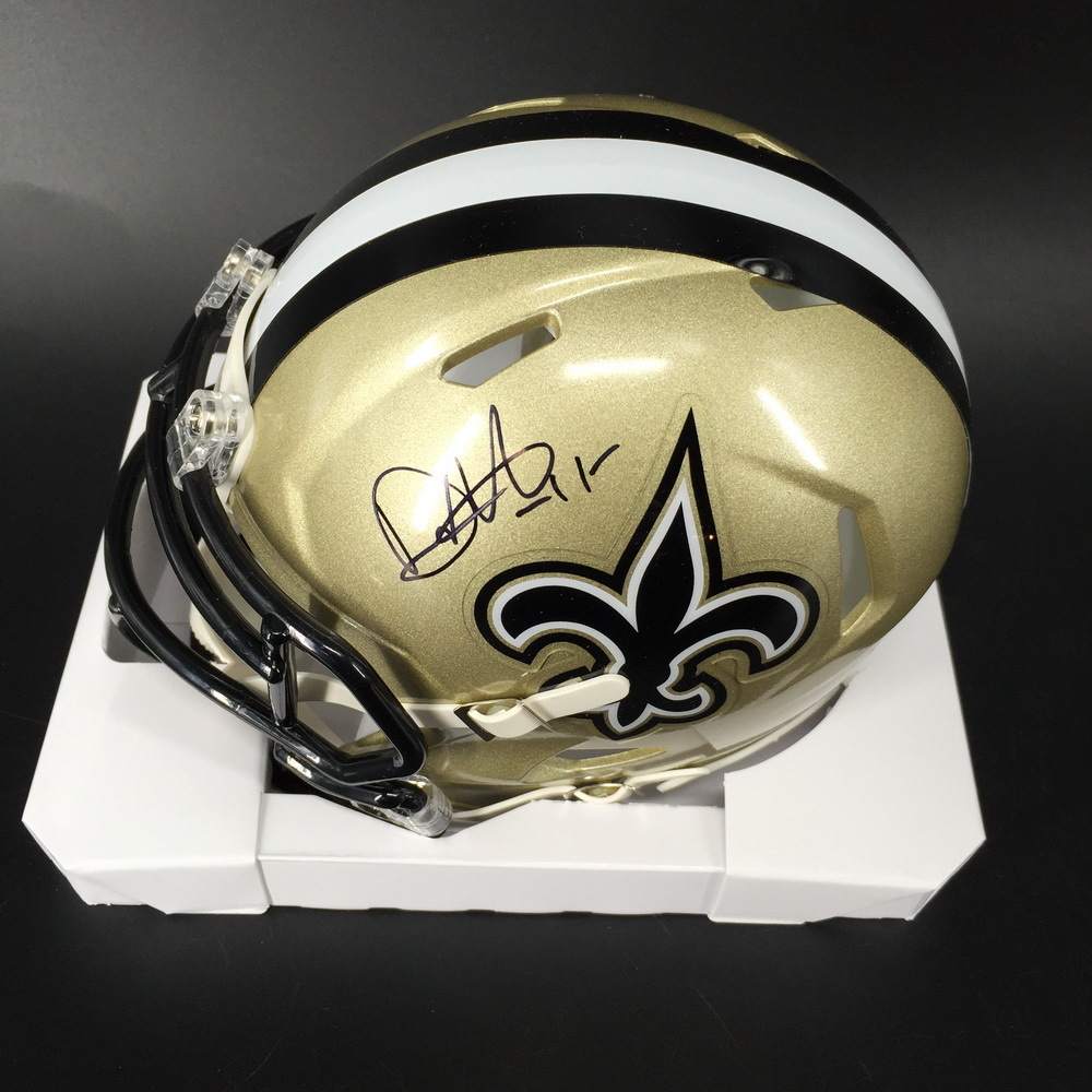 NFL - Saints Deonte Harris Signed Mini Helmet