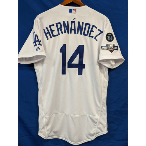 "Photo of Enrique ""Kiké"" Hernandez 2019 Postseason Team Issued Home Jersey"