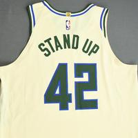 Robin Lopez - Milwaukee Bucks - Game-Worn City Edition Jersey - 2019-20 NBA Season Restart with Social Justice Message