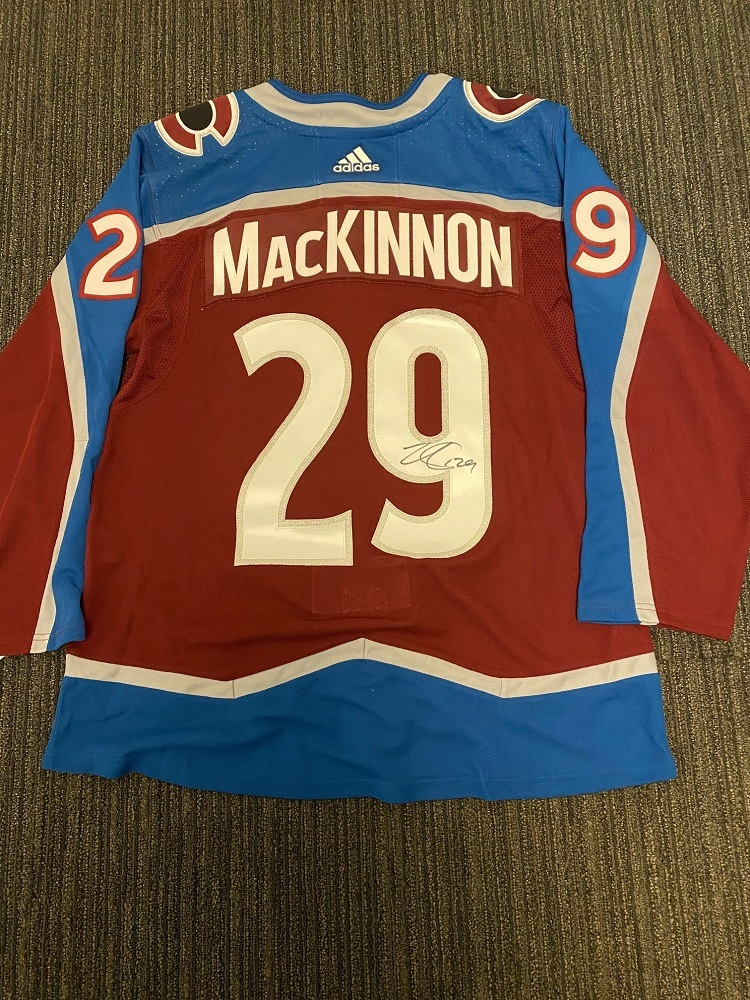 Nathan MacKinnon Colorado Avalanche Autographed adidas Authentic jersey.  Benefitting Hockey Fights Cancer