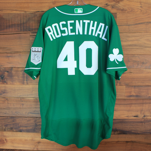 Photo of Team-Issued 2020 St. Patrick's Day Jersey: Trevor Rosenthal #40 - Size 48