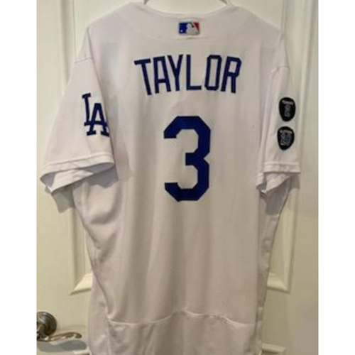 Photo of Chris Taylor Authentic Game-Used Jersey from 5/11/21 Game vs. SEA
