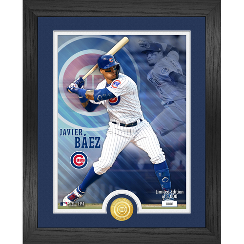 Photo of Serial #1! Chicago Cubs Javier Baez Bronze Coin Photo Mint
