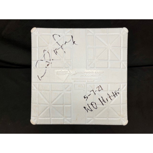 Photo of Wade Miley No-Hitter - *Game-Used, Autographed & Inscribed* Third Base (Innings 1-9) - 05/07/2021 - CIN @ CLE - Inscribed as 5-7-21 No Hitter.