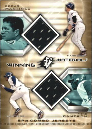 Photo of 2002 SPx Winning Materials 2-Player Jersey Combos #WMMC Edgar Martinez/Mike Cameron
