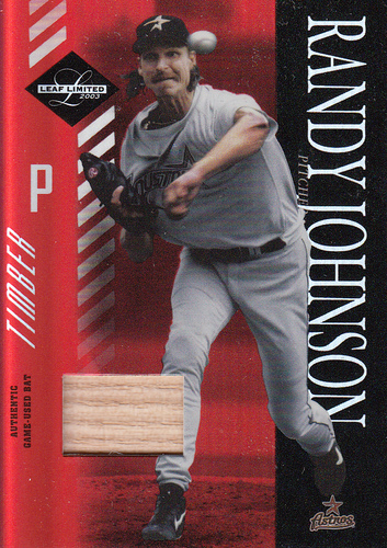 Photo of 2003 Leaf Limited Timber #84 Randy Johnson Astros