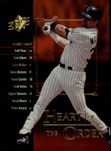 Photo of 2000 SPx Heart of the Order #H19 Larry Walker