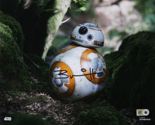 Brian Herring as BB-8 8x10 Autographed in Black Ink Photo