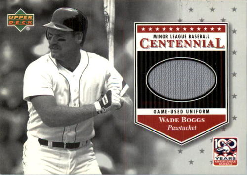 Photo of 2001 Upper Deck Minors Centennial Game Jersey #JWB Wade Boggs