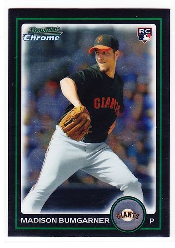 Photo of 2010 Bowman Chrome Draft #BDP9 Madison Bumgarner Rookie Card