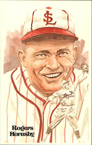 Photo of 1980-02 Perez-Steele Hall of Fame Postcards #27 Rogers Hornsby -- HOF Class of 1942