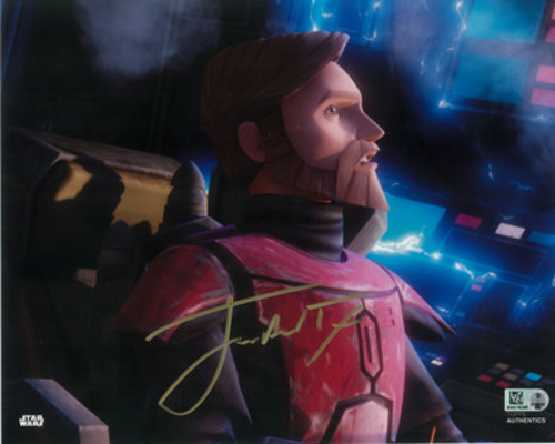 James Arnold Taylor as Obi-Wan Kenobi 8x10 Autographed in Gold Ink Photo