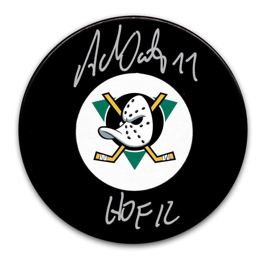 Adam Oates Anaheim Ducks HOF Autographed Puck