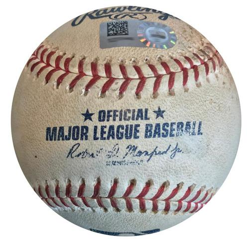 Photo of Game-Used Baseball from Pirates vs. Nationals on 7/9/18 - Vazquez Sets Pirates Franchise Left-Handed Pitcher Saves Record