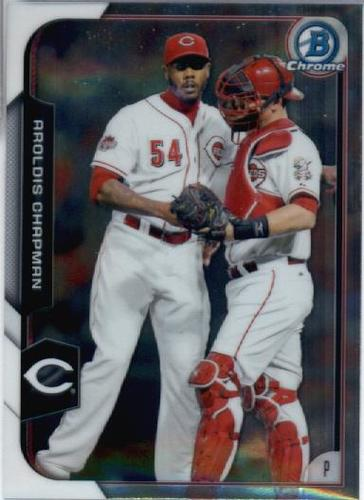 Photo of 2015 Bowman Chrome #119 Aroldis Chapman