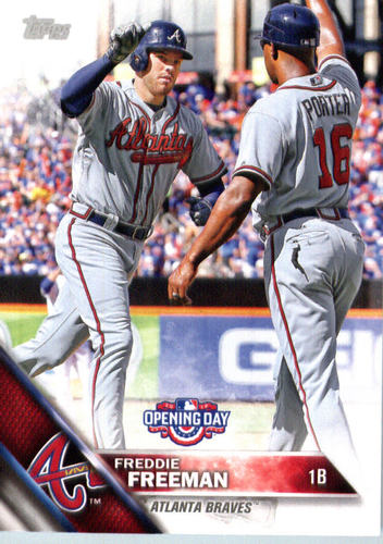 Photo of 2016 Topps Opening Day #OD63 Freddie Freeman
