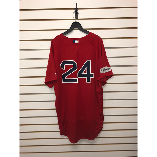 Photo of David Price Team-Issued 2017 Home Alternate Jersey