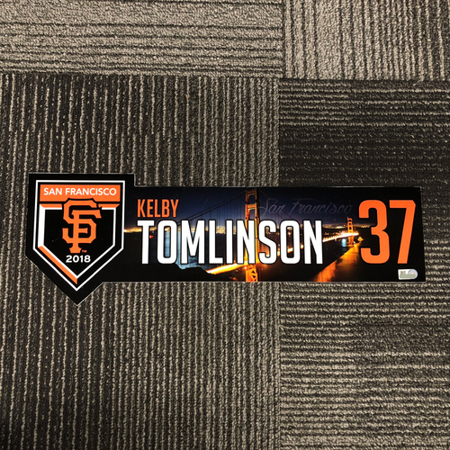 Photo of San Francisco Giants - 2018 Regular Season Locker Tag - #37 Kelby Tomlinson