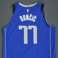 Luka Doncic - Dallas Mavericks - Kia NBA Tip-Off 2018 - Game-Worn NBA Debut Icon Edition Jersey - Worn During 3 Games