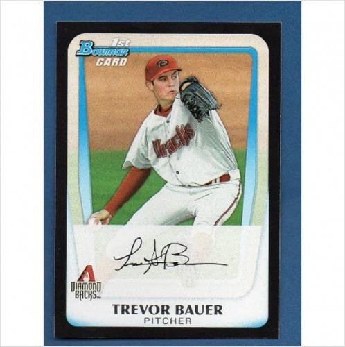 Photo of 2011 Bowman Chrome Draft Prospects #BDPP9 Trevor Bauer Pre-Rookie Card