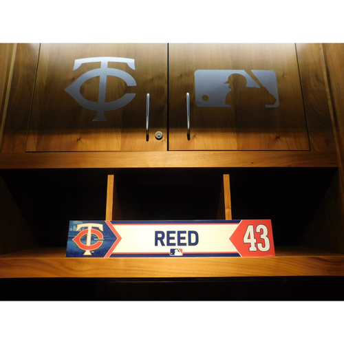 Photo of 2018 Addison Reed Game-Used Locker Name Plate