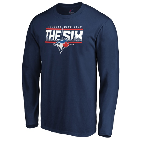 Toronto Blue Jays The Six Fine Contribution Long Sleeve T-Shirt by Majestic