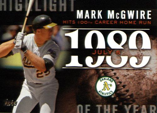 Photo of 2015 Topps Highlight of the Year #H53 Mark McGwire
