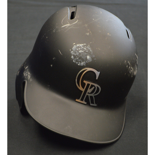 "Photo of Ryan ""RY MAC"" McMahon Colorado Rockies Game-Used 2019 Players' Weekend Helmet"