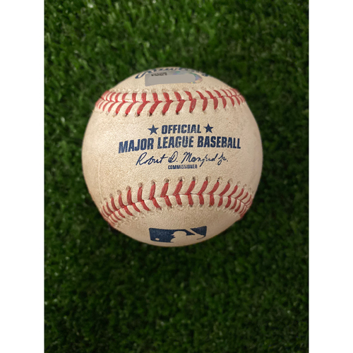 Photo of Bryce Harper Game Used Hit Single Baseball - 9/17/2019