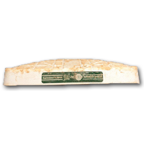 Photo of Game-Used 2nd Base -- Used in Innings 5 through 9 -- Brewers vs. Cubs -- 9/1/19