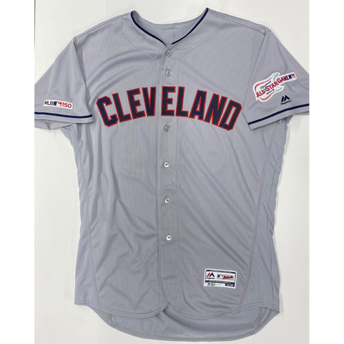 Photo of Franmil Reyes Team Issued 2019 Gray Road Jersey