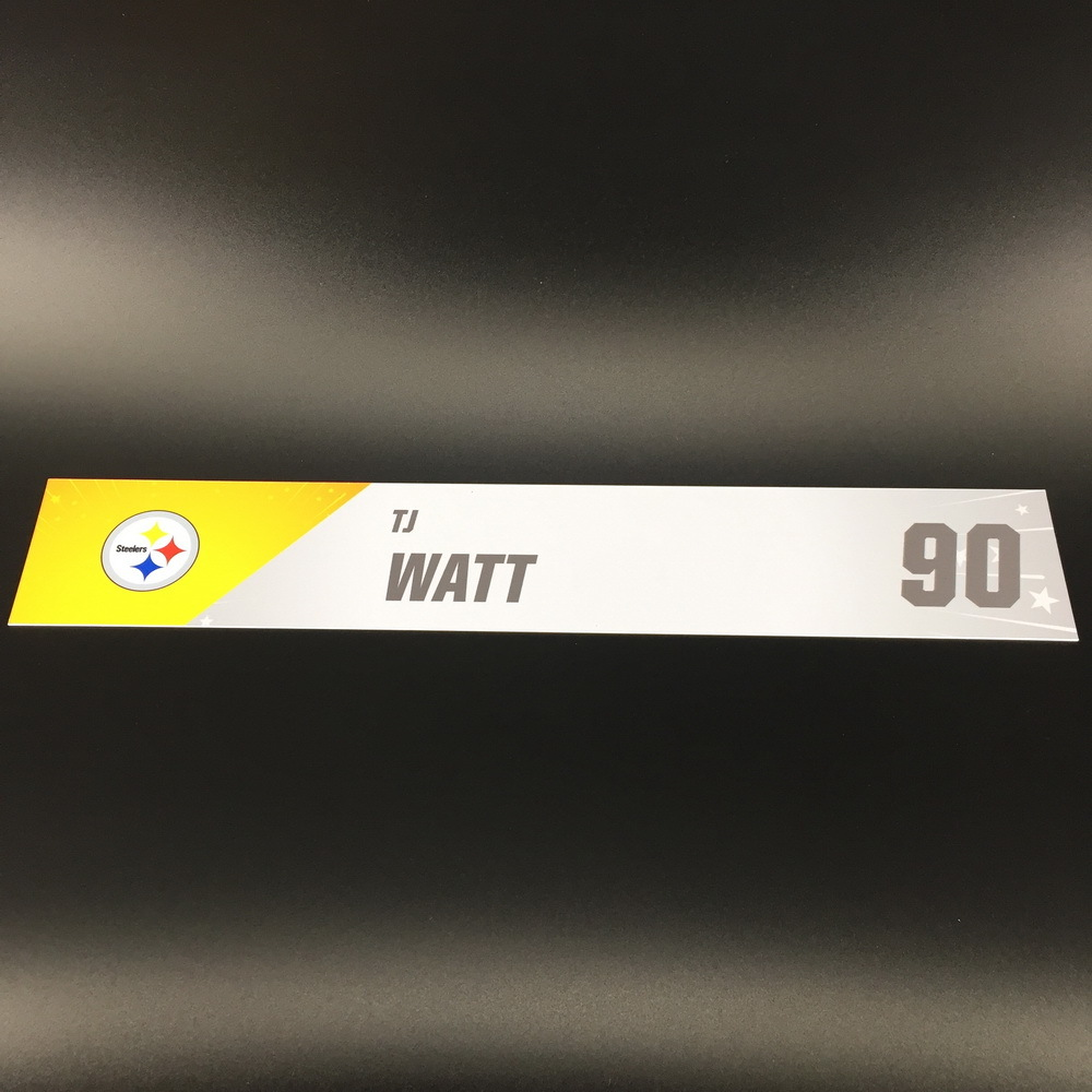 NFL - Steelers T. J. Watt Pro Bowl 2020 Locker Room Name Plate
