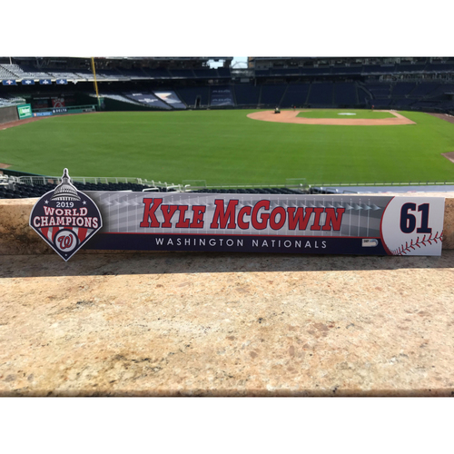 Photo of Kyle McGowin Game-Used 2020 Locker Tag